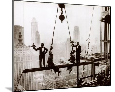 Lunch above Manhattan--Mounted Art Print