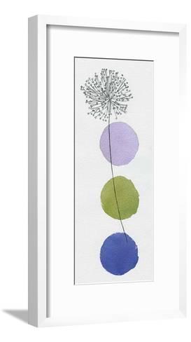 Circles and Dandelion-Nicola Gregory-Framed Art Print