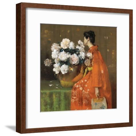 Spring Flowers-William Merritt Chase-Framed Art Print