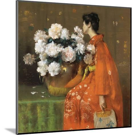Spring Flowers-William Merritt Chase-Mounted Art Print