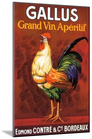 Gallus, Grand Vin Apertif--Mounted Giclee Print