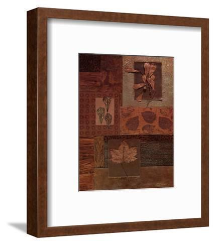Leaf Collage II-Merri Pattinian-Framed Art Print