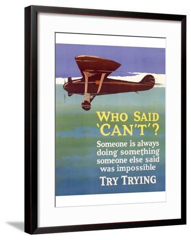 Try Trying Success--Framed Art Print