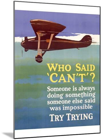 Try Trying Success--Mounted Giclee Print