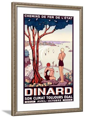 French State Railway, Travel to Dinard--Framed Art Print