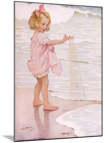 Young Girl in the Ocean Surf-Jessie Willcox-Smith-Mounted Giclee Print