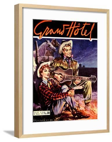 Grand Hotel, Cowboy and Cowgirl--Framed Art Print