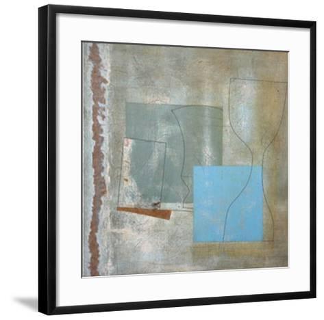 Green Goblet and Blue Square, c.1961-Ben Nicholson-Framed Art Print