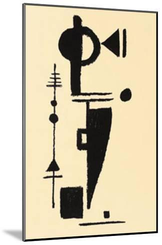 Formspiel, c.1948-Max Ackermann-Mounted Serigraph