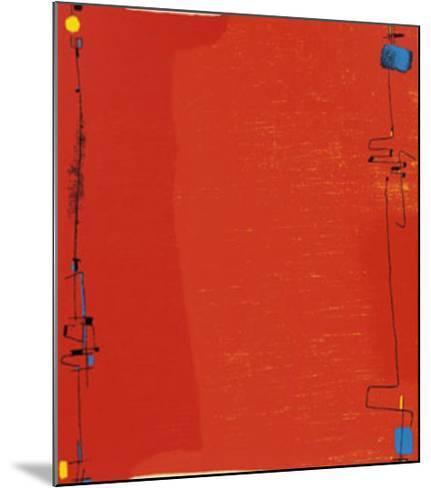 Diptychon Rot, c.1963-Max Ackermann-Mounted Serigraph