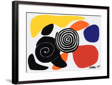 Spirals and Petals, c.1969-Alexander Calder-Framed Art Print