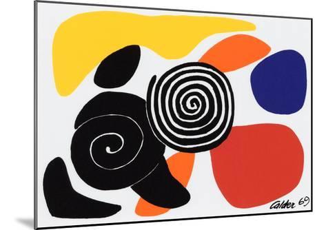 Spirals and Petals, c.1969-Alexander Calder-Mounted Serigraph