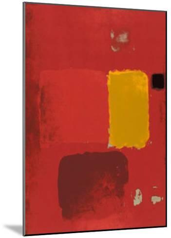 Cadmium Painting-Patrick Heron-Mounted Serigraph
