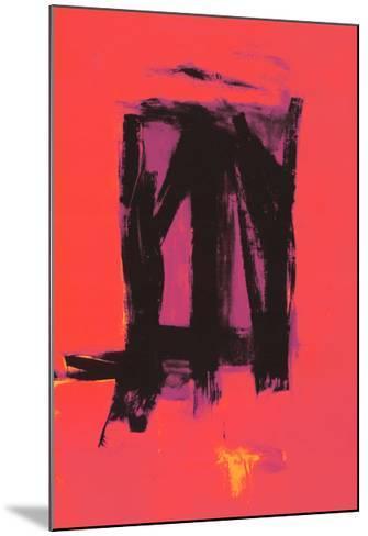 Red Painting, c.1961-Franz Kline-Mounted Serigraph