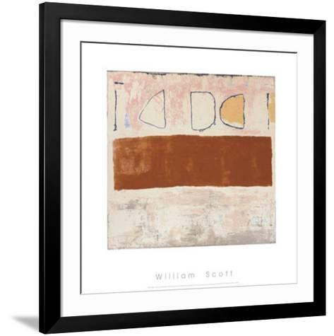 White and Ochre, c.1960-William Scott-Framed Art Print