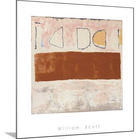 White and Ochre, c.1960-William Scott-Mounted Serigraph