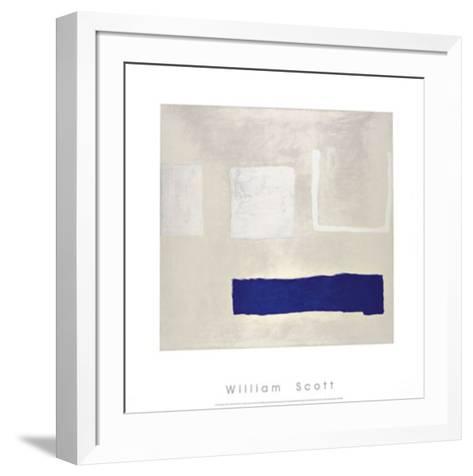 White and Blue, c.1960-William Scott-Framed Art Print