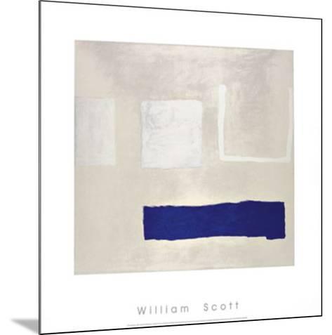 White and Blue, c.1960-William Scott-Mounted Serigraph