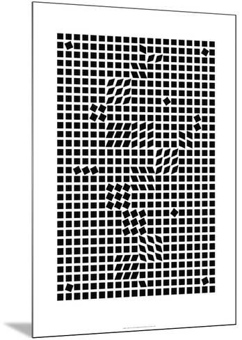 Tlinko, c.1955-Victor Vasarely-Mounted Serigraph