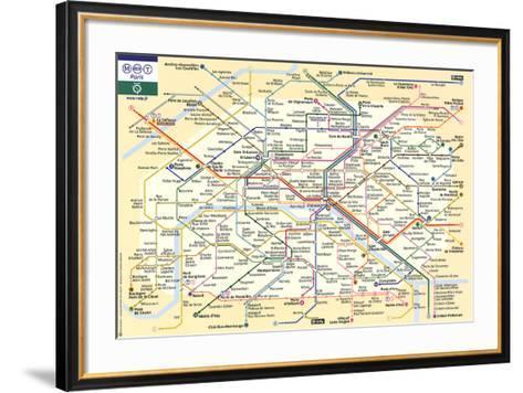 Le Metro de Paris--Framed Art Print