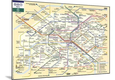Le Metro de Paris--Mounted Art Print