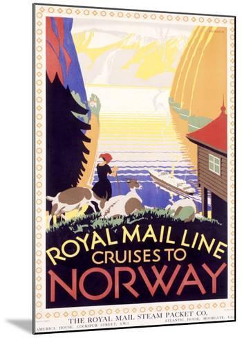 Royal Mail Ocean Line, Norway-Herrick-Mounted Giclee Print