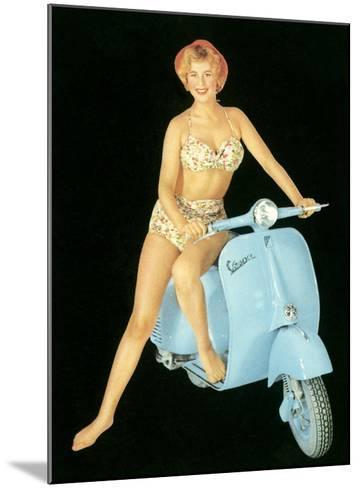 Pin-Up Girl: Italian Vespa Piaggio--Mounted Giclee Print