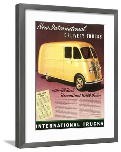 International Streamlined Metro Truck--Framed Art Print