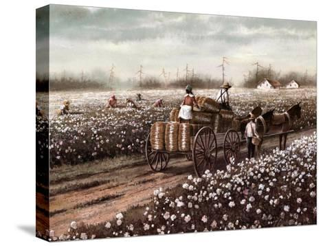 Cotton Pickers--Stretched Canvas Print