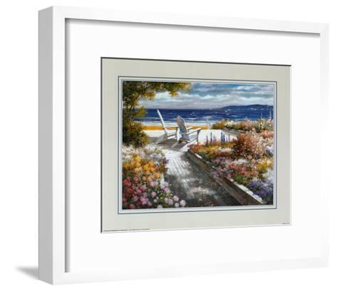 Path with Beach Chairs-T^ C^ Chiu-Framed Art Print