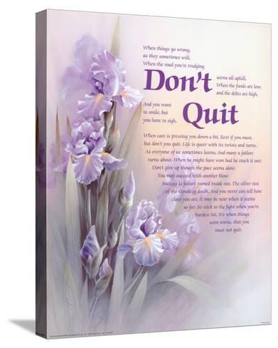 Don't Quit-T^ C^ Chiu-Stretched Canvas Print
