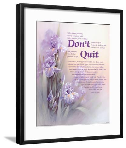Don't Quit-T^ C^ Chiu-Framed Art Print