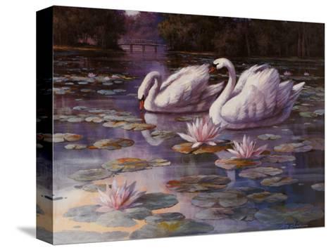 Swans and Bridge-T^ C^ Chiu-Stretched Canvas Print