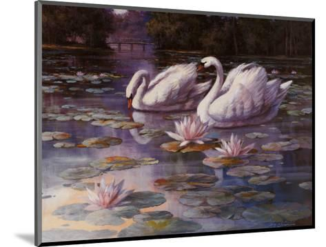 Swans and Bridge-T^ C^ Chiu-Mounted Art Print