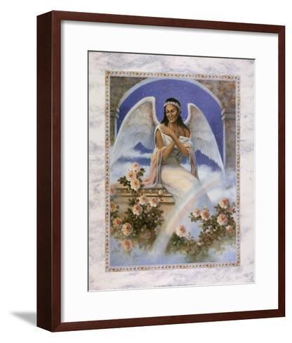 Black Angel with Rainbow-T^ C^ Chiu-Framed Art Print