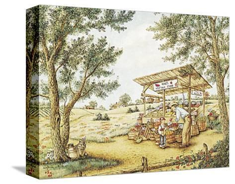 Wade's Vegetable Stand-Kay Lamb Shannon-Stretched Canvas Print