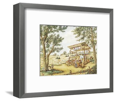 Wade's Vegetable Stand-Kay Lamb Shannon-Framed Art Print