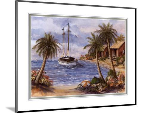 Umbrellas on the Beach-Jackie Thompson-Mounted Art Print