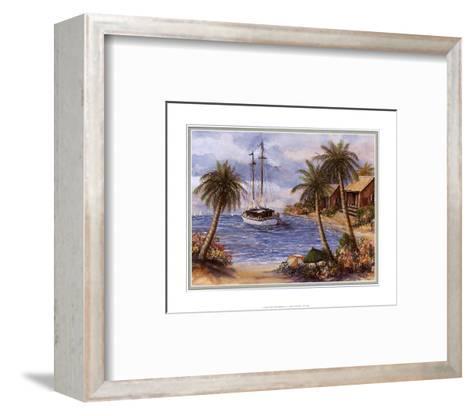 Umbrellas on the Beach-Jackie Thompson-Framed Art Print