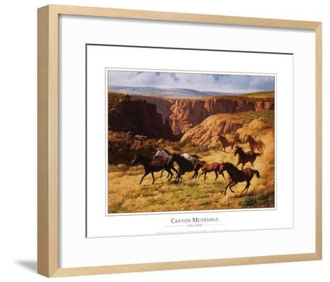 Canyon Mustangs-John Leone-Framed Art Print