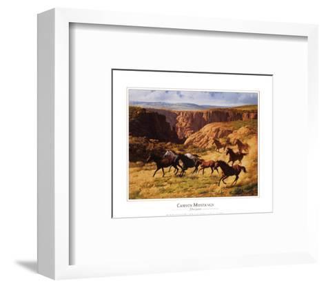 Canyon Mustangs-John Leone-Framed Art Print