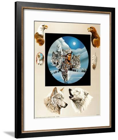 Moonlit Warrior-Gary Ampel-Framed Art Print