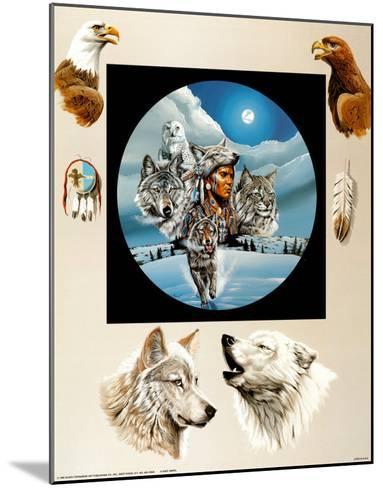 Moonlit Warrior-Gary Ampel-Mounted Art Print