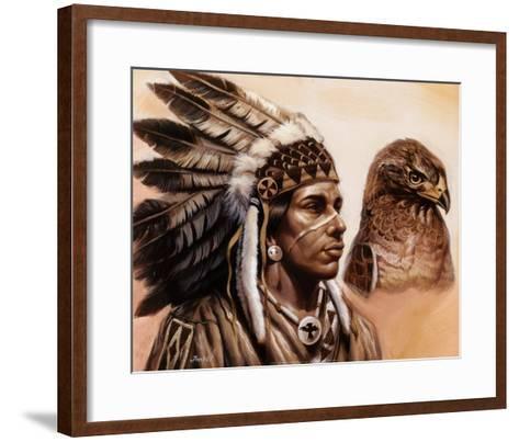 Young Hawk-Gary Ampel-Framed Art Print
