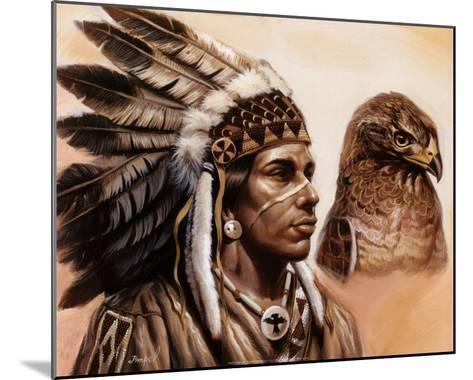 Young Hawk-Gary Ampel-Mounted Art Print