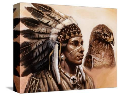 Young Hawk-Gary Ampel-Stretched Canvas Print