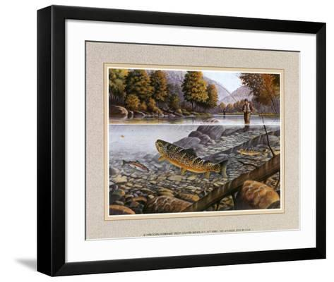 Jumping Trout--Framed Art Print