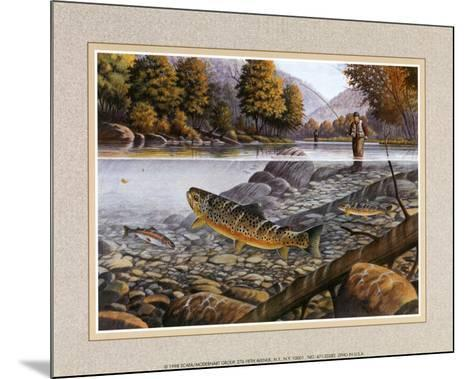 Jumping Trout--Mounted Art Print