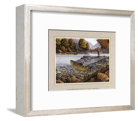 Jumping Trout--Framed Art Print