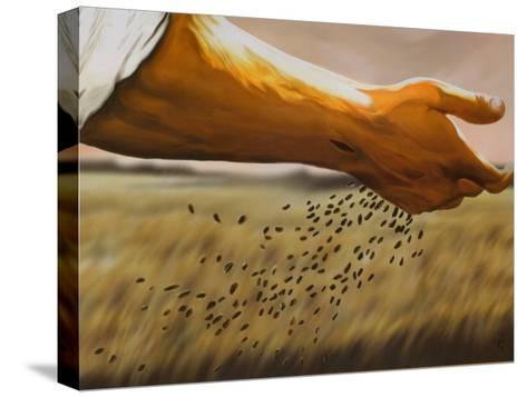The Sower-Garret Walker-Stretched Canvas Print